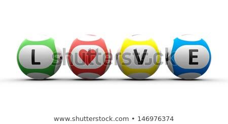 Lottery balls love Stock photo © Oakozhan