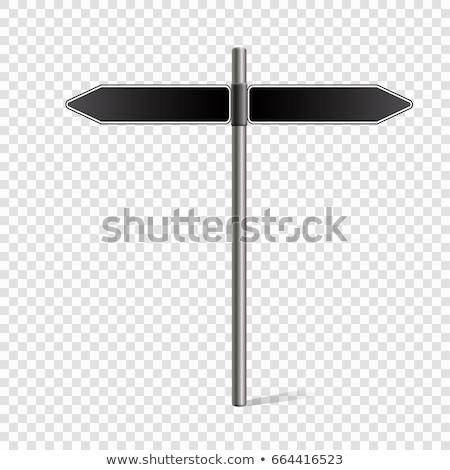 szett · fő- · út · jelzőtábla · izolált · fehér - stock fotó © bluering