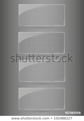 ガラス フレームワーク セット デザイン フレーム 鋼 ストックフォト © Panaceadoll