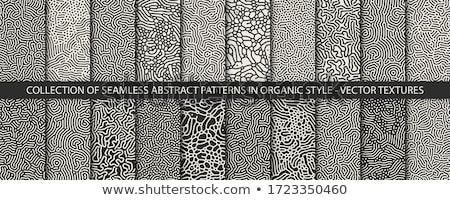 Vector Seamless Black and White Dots Jumble Pattern Stock photo © CreatorsClub