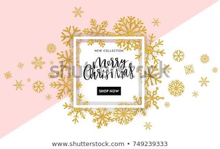 natal · ornamento · cartão · arte · inverno - foto stock © beholdereye