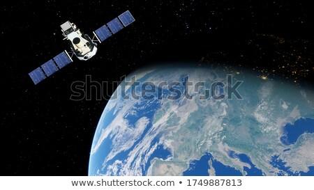 Satellite terra set star mare comunicazione Foto d'archivio © Bigalbaloo