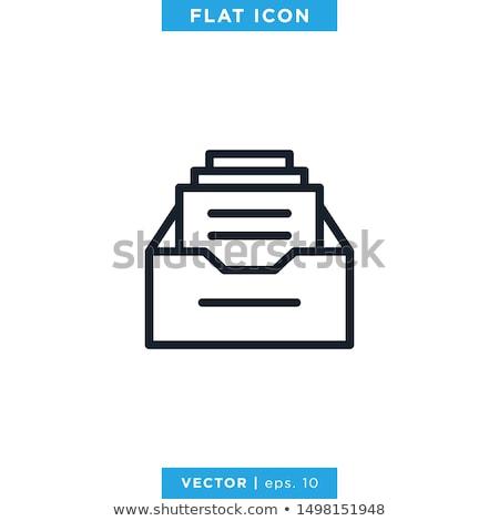 Archívum ikon terv papír szolgáltatás szoftver Stock fotó © sdCrea
