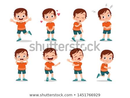 Jongen blij gezicht illustratie man achtergrond kunst Stockfoto © bluering