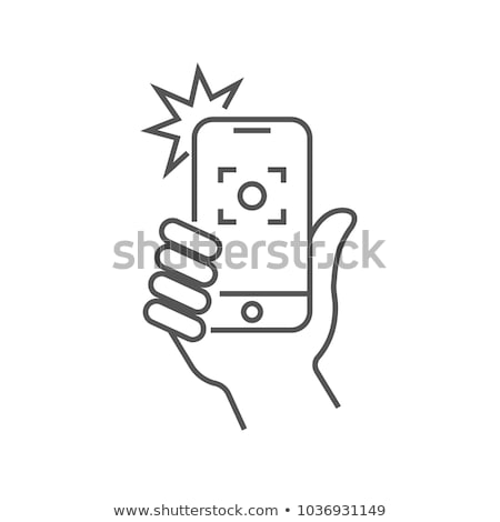 Camera with fashion flash icon Stock photo © angelp