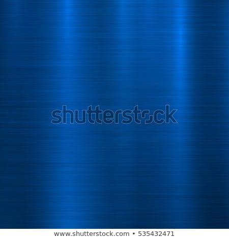 Azul metal tecnología resumen pulido circular Foto stock © molaruso