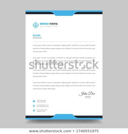 Corporate modernen Briefkopf Vorlage Vektor Design Stock foto © SArts