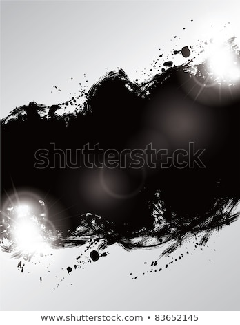 graffiti splatter speckled effect in black on white Stock photo © Melvin07
