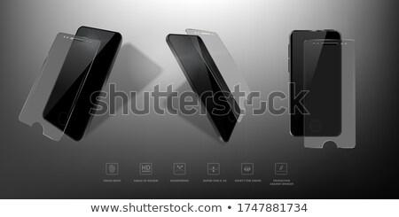 3d · иллюстрации · телефон · защиту · стекла · охватывать - Сток-фото © tussik