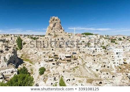 Jaskini miasta Turcja centralny górskich rock Zdjęcia stock © Xantana