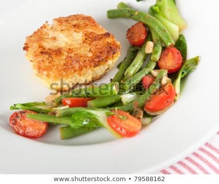 ejotes · cocina · mesa · verde · vegetales · frescos - foto stock © monkey_business
