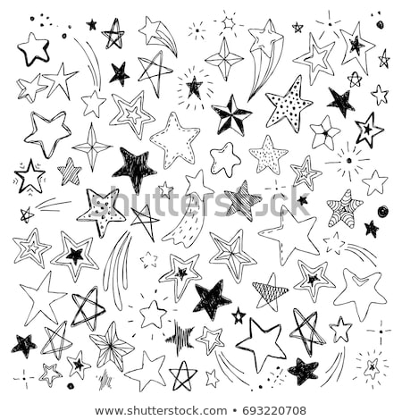 Vectorized Ink Sketch of a Shooting Star Stock photo © cidepix