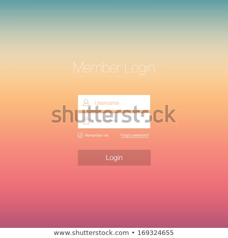 clean login form template design on blurred background Stock photo © SArts