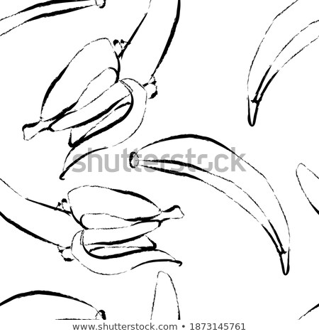 Ink Sketch of a Banana with White Fill Stock photo © cidepix