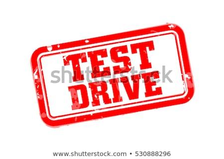 vector test drive sign stamp design Stock photo © SArts
