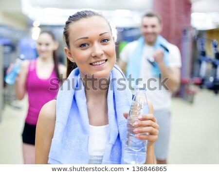 Teen girl fitness jogger ragazzi esercizio teen Foto d'archivio © dtiberio