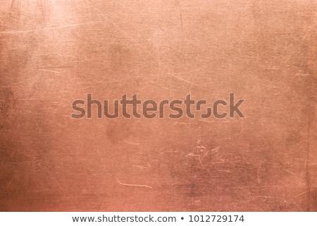 végtelenített · réz · textúra · közelkép · absztrakt · fém - stock fotó © drizzd