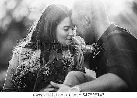 Meghitt fiatal pér szexi pár éjszaka fiú Stock fotó © bartekwardziak