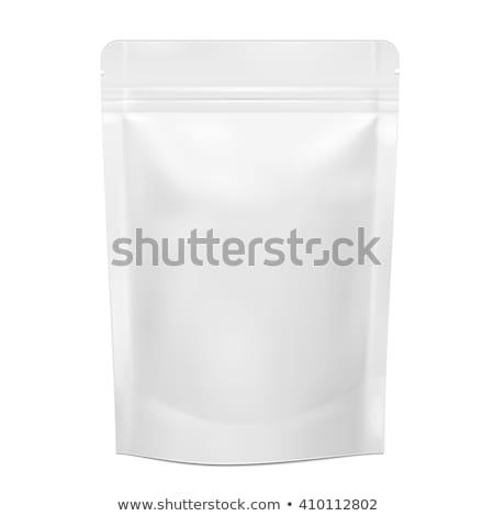 Wektora opakowań pakiet worek odizolowany biały Zdjęcia stock © Mediaseller