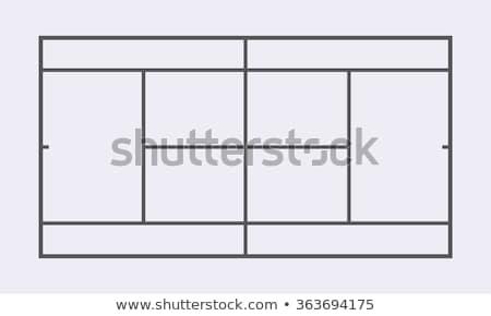 Tennis court, vector illustration Stock photo © carodi