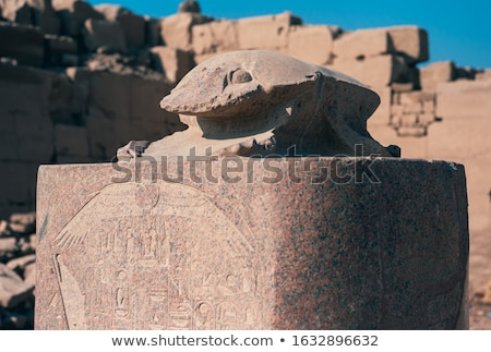 Templo antigo Egito parede arte assinar Foto stock © Mikko