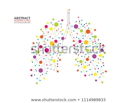 Stock photo: Digital Vector Red Medicine Lungs