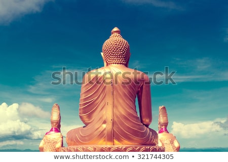 Phuket · nagy · Buddha · felső · domb · viharos - stock fotó © carloscastilla