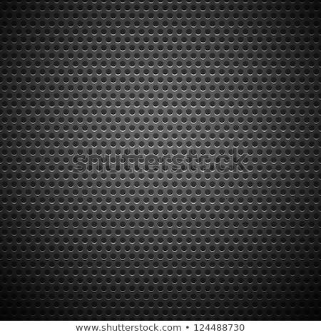 metallic chrome texture vector background with dark circles Stock photo © SArts