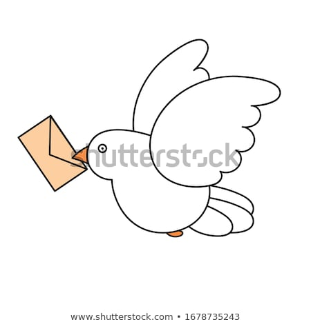 colombe · lettre · ciel · amour · heureux · résumé - photo stock © curiosity