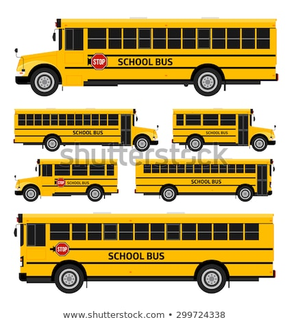 Illustratie Geel schoolbus vector stijl icon Stockfoto © curiosity