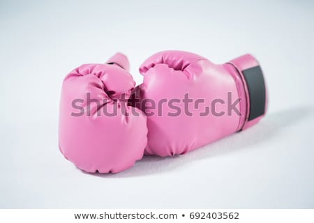 Close-up pair of pink boxing gloves Stock photo © wavebreak_media