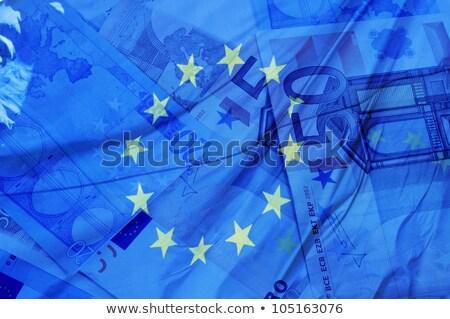 euro · para · damla · portre · işadamı · takım · elbise - stok fotoğraf © lightsource