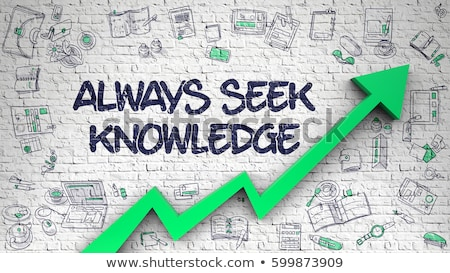 Always Seek Knowledge Drawn on White Brick Wall.  Stock photo © tashatuvango