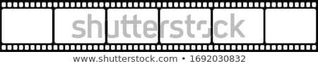 Taśmy filmowej niebieski film tle ramki wideo Zdjęcia stock © m_pavlov