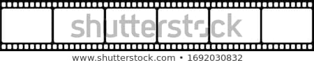 Filmstrip Blauw film achtergrond frame video Stockfoto © m_pavlov
