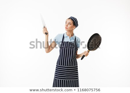 Chef posing with a pan Stock photo © stokkete