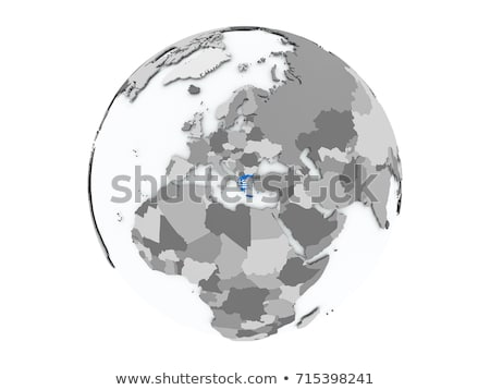Griekenland wereldbol vlag eenvoudige grijs landen Stockfoto © Harlekino