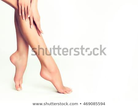 pedicure · creme · tratamento · mulher · pé - foto stock © foremniakowski