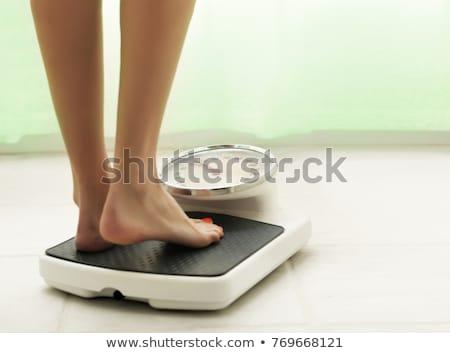 Równowagi zielone biały słowo świadczonych obiektyw Zdjęcia stock © bestmoose
