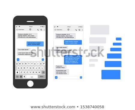 Klavye mavi yaşamak sohbet düğme Stok fotoğraf © tashatuvango