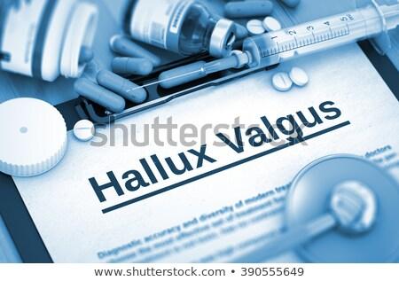 診断 医療 3次元の図 赤 ぼやけた 文字 ストックフォト © tashatuvango