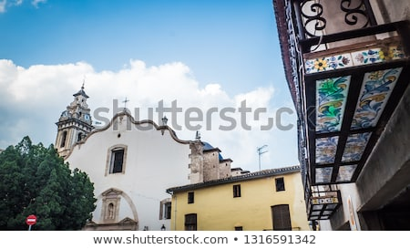 Valencia İspanya dar sokak ortaçağ Stok fotoğraf © smartin69