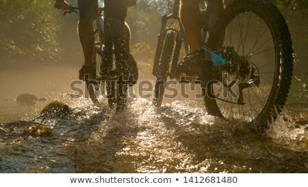 マウンテンバイク ライディング 水 男 速度 ヨーロッパ ストックフォト © IS2