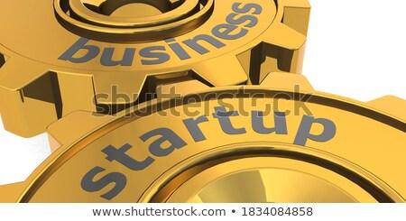 бизнеса взаимодействие передач механизм металлический Сток-фото © tashatuvango
