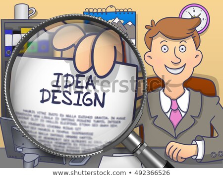 branding through magnifying glass doodle concept stock photo © tashatuvango