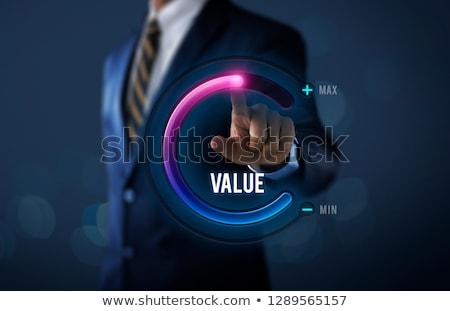 Rynku wartość ilustracja podpisania ceny niebieski Zdjęcia stock © 72soul