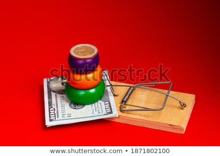 mousetrap with dollar coin  Stock photo © OleksandrO