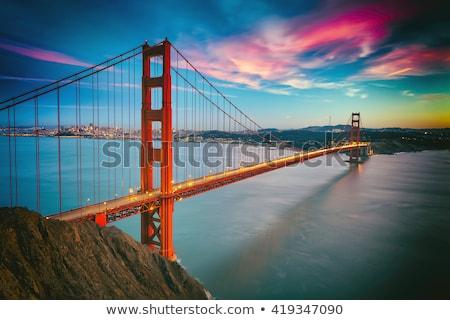 Bella cityscape Golden Gate Bridge auto traffico San Francisco Foto d'archivio © bezikus