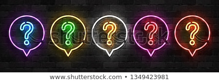 question mark neon sign stock photo © stevanovicigor