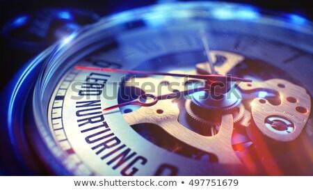 brand   inscription on vintage pocket clock 3d stock photo © tashatuvango
